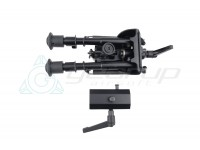 Swinging Bipod w/20mm QD turnable attachment 6""