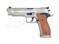 CYBERGUN Sig Sauer P226 X5 CO2 Full Metal Blowback- Silver/Wood Style Grip