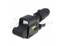 Prime Optic Sight Combo with G33 3x Magnifier and XPS 3-2 Red / Green Dot, QD mount (Black)