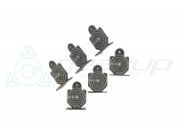 METAL AIRSOFT TARGET TYPE 1 (GROUP OF SIX)