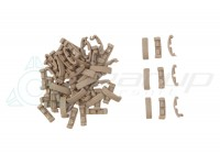 TACTICAL INDEXCLIPS FOR RAIL 60PCS SET (DE)